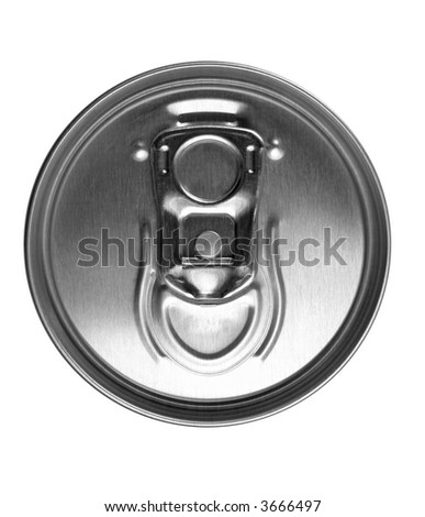 close up of an unopened tin can - stock photo
