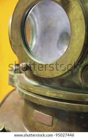 Close-up of Antique Diving Equipment - stock photo