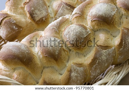 Close up of  artisan bread bars - stock photo