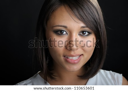 Close up of asian woman face