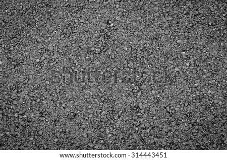 Close up of asphalt road - stock photo