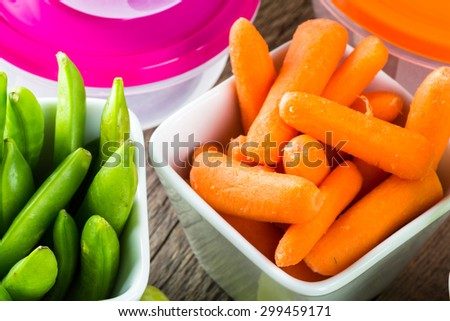 Close up of assorted vegetable snack. - stock photo