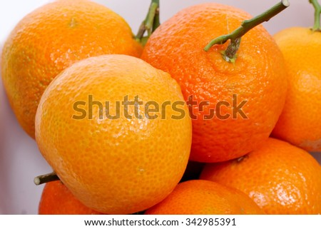 close-up of assortments of tangerines