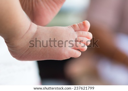 close up of  baby feet