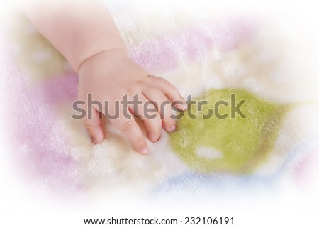 Close up of baby's hand  - stock photo