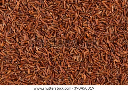 close up of background of raw red rice