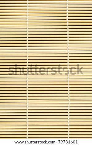 Close up of bamboo mat background - stock photo