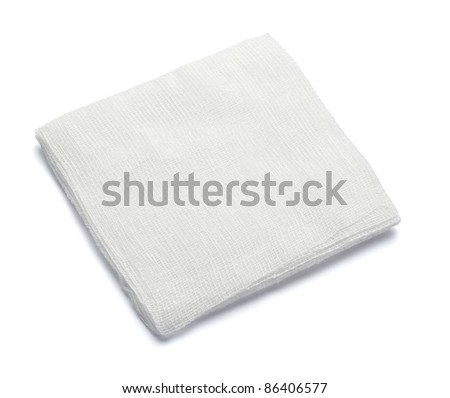 close up of bandage on white background with clipping path - stock photo