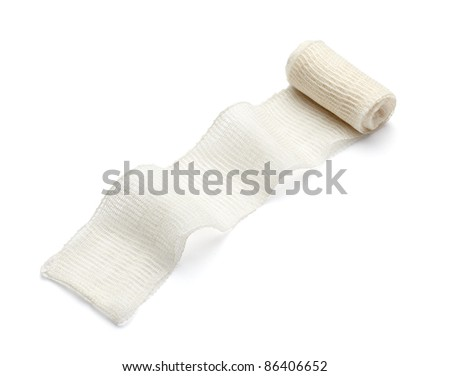 close up of bandage on white background with clipping path