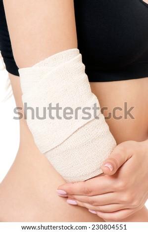 Close-up of bandaging - stock photo