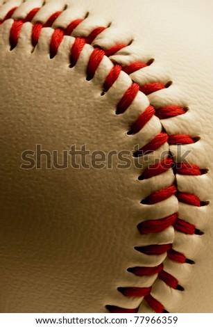 Close up of baseball. - stock photo