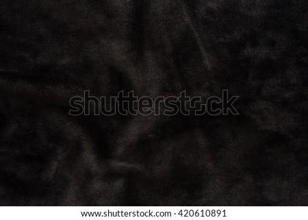Close up of beautiful black velvet texture background. - stock photo
