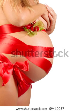 Close-up of beautiful pregnant woman