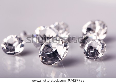 Close up of beautiful shining crystals - stock photo