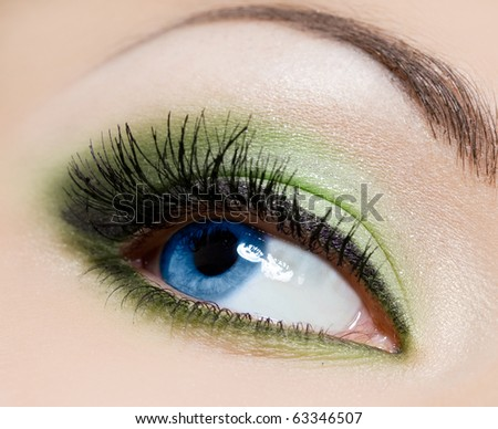 close-up of beautiful womanish eye - stock photo