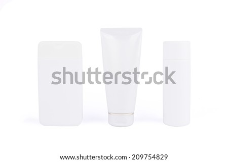 Close up of beauty hygiene container on white background - stock photo