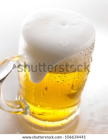Close-up of beer - stock photo