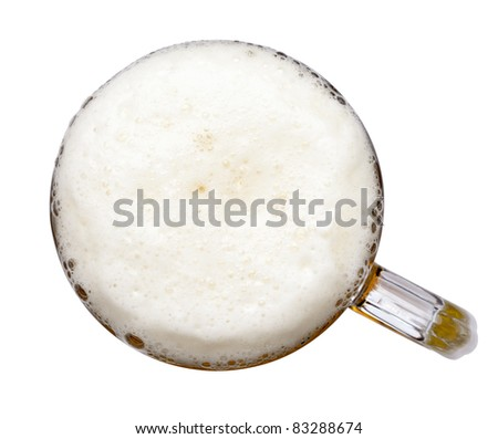 close up of beer - stock photo