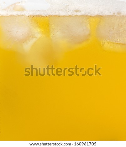 Close-up of beer and ice - stock photo