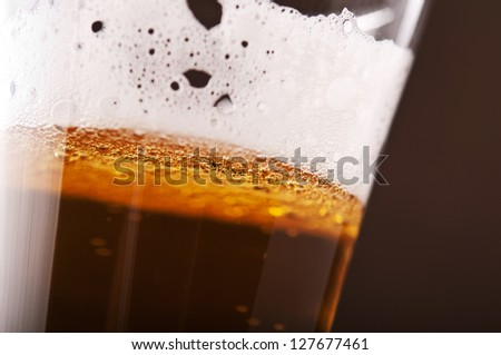close up of beer glass background - stock photo