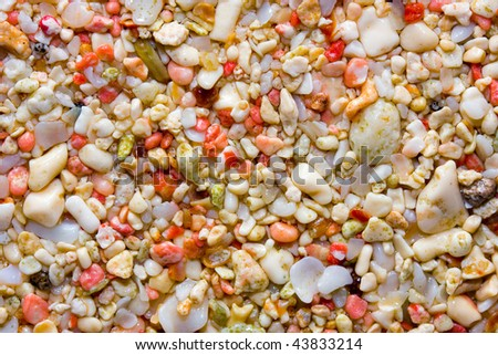 Close up of Bermuda's world famous pink sand - stock photo