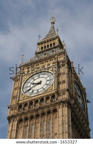 Close up of Big Ben - stock photo