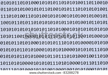 close up of binary numbers background pattern