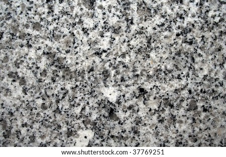 Close up of Black and Gray Granite Pattern - stock photo