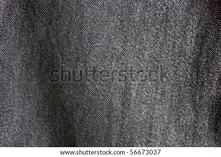 close up of black denim cloth