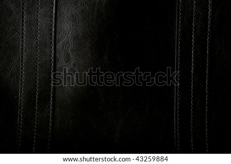 Close-up of black leather texture can use as background - stock photo