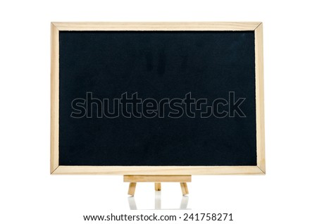 Close up of blackboard on white background isolated - stock photo