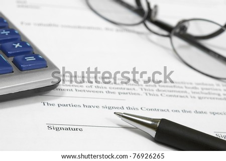 Close-up of Blank Contract Form - stock photo