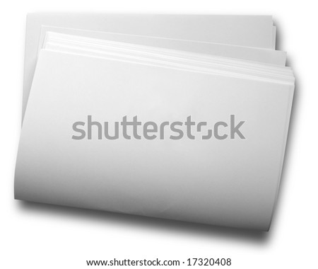 Close-up of blank papers
