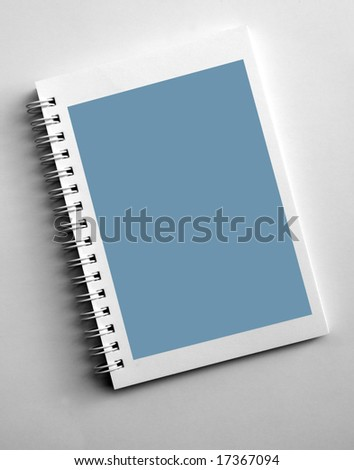 Close up of blank Spiral notepad - stock photo