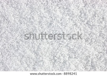 Close-Up of Blanket of Fresh Snow - see more in portfolio - stock photo