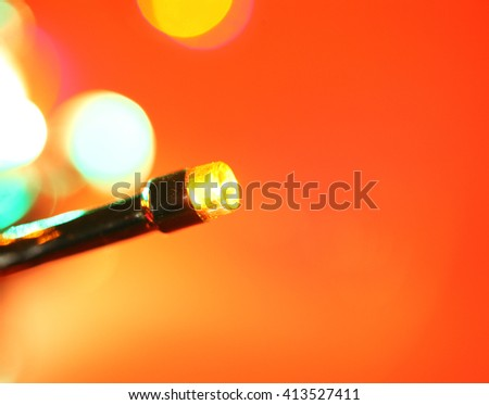 Close up of blinking LED bulbs - stock photo