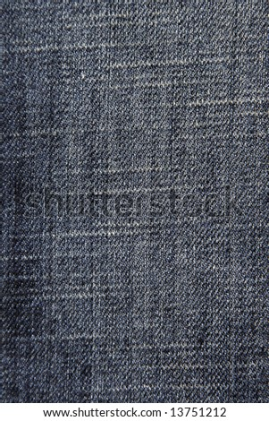 Close-Up Of Blue Denim Cloth - Jeans Background - stock photo