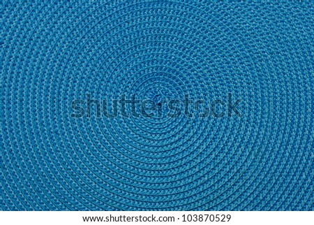 Close-up of  blue food stands. The spiral structure. Center. - stock photo
