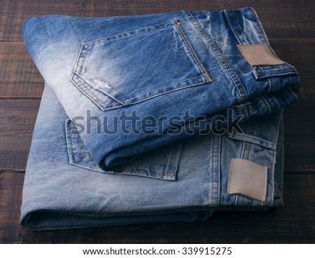 Close up of blue jeans ,Blue Jeans texture - stock photo