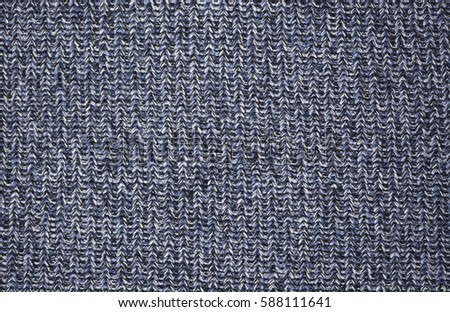 Close-up of blue knitting wool texture background, texture, high resolution picture