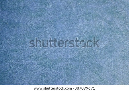 Close up of Blue leather texture background - stock photo