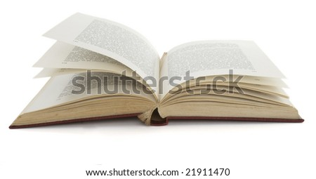 close up of book on white background, with clipping path included