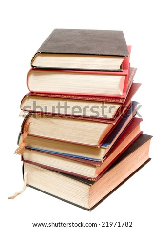 close up of books on white background, with clipping path included - stock photo