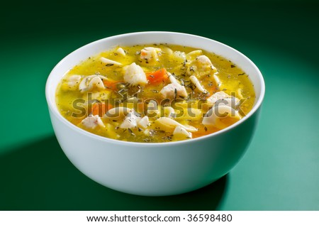 Close up of bowl of soup