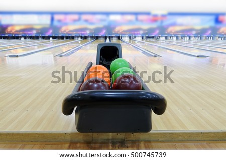 Close up of bowling ball