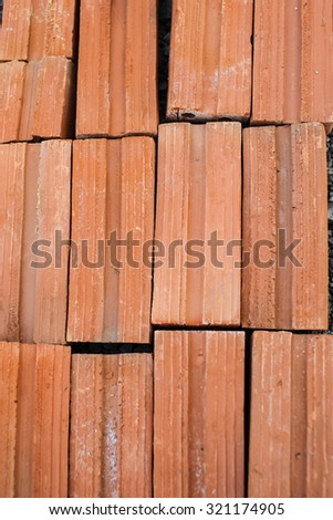 Close-up of brick wall for texture background - stock photo