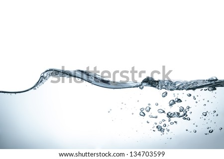 Close Up Of Bubbles And  Water Waves