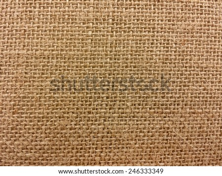 close up of burlap textile - stock photo