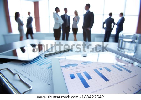 Image Business Documents On Workplace Three Stock Photo 88492132