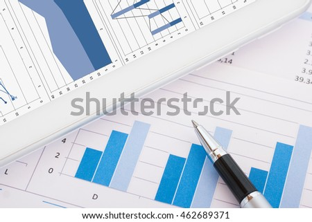 Close-up of business documents